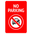 no parking modern sticker ready fo print vector image vector image