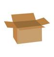 open cardboard vector image vector image