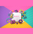 paper cut music icon template for musical event vector image