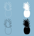 pineapple the black and white color icon vector image
