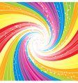 rainbow swirl background vector image vector image