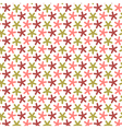 Repeating stars with round angles seamless pattern vector image
