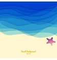 Sea sand and a starfish vector image vector image