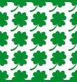 seamless background irish clover vector image