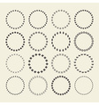 set circle border decorative symbol patterns vector image vector image