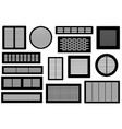 set of different ventilations grilles vector image vector image