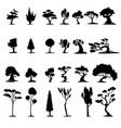 set of imaginary trees silhouettes vector image vector image