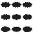 set sunburst label badge templates shapes icons vector image
