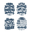 set with travel life style inspiration quotes vector image vector image