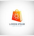 shopping bag logo vector image