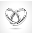Silver Rings Isolated on White Background vector image