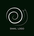 snail logo template linear animal snail vector image vector image