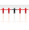 standing out from crowd vector image