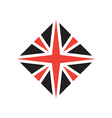 Stylized British flag icon or design element vector image