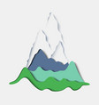 stylized paper mountain landscape vector image