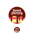 sweet factory logo pastry emblem cake chocolate vector image vector image