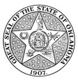 the great seal of the state of oklahoma 1907 vector image vector image