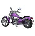 the purple heavy motorcycle vector image vector image