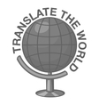 Translate world icon gray monochrome style vector image vector image