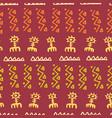 tribal creative seamless pattern vector image
