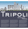 Tripoli Skyline with Gray Buildings Blue Sky vector image vector image