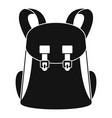 universal backpack icon simple style vector image vector image