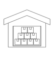 Warehouse goods storage icon vector image vector image