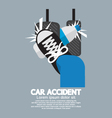 Water Bottle Cause Car Accident vector image