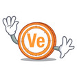 waving veritaseum coin character cartoon vector image vector image