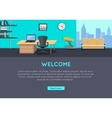 Welcome Concept in Flat Style Design vector image vector image