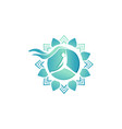 wellness center logo design concept spa and vector image