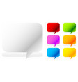 white and six vivid color speech talk bubbles vector image