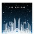 Winter night in kuala lumpur night city in flat