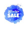 winter sale blot vector image vector image