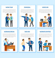 work task and order employee dismissal by employer vector image vector image