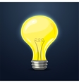 Yellow light bulb vector image