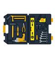 construction tools box vector image