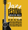 poster for jazz festival with a guitar vector image