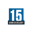 15th anniversary icon birthday logo vector image vector image