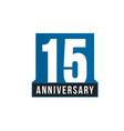 15th anniversary icon birthday logo vector image