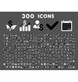 300 Flat Business Icons vector image vector image