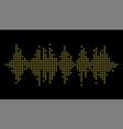 3d pulse music player audio rainbow mosaic wave vector image