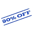 90 Percent Off Watermark Stamp vector image vector image
