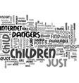 a dangerous environment text word cloud concept vector image vector image