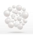 abstract atom molecule blue flat icon vector image