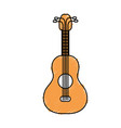 acoustic guitar instrument to play vector image vector image