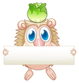 An animal holding an empty signboard vector image vector image