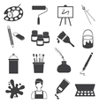 Art Icons Set vector image