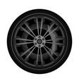 automobile titanium rim icon vector image vector image