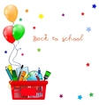 Back to school banner vector image vector image